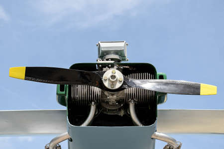 propeller of a small drone close-up