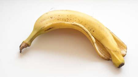 banana skin: banana skin isolated on white background