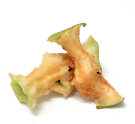 Two apple stub isolated