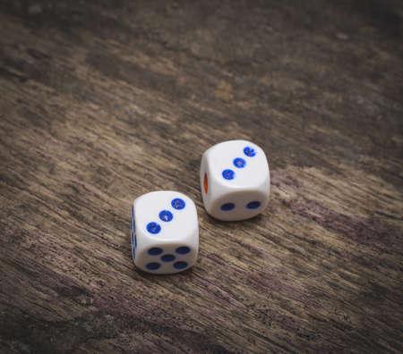 Game dice number three Stock Photo