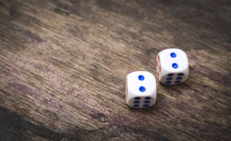 two game dice number double two Zdjęcie Seryjne