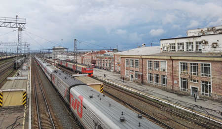 Perm, Russia, June 2017. The project is traveling in Russia. The Perm II Perm Vtoraya Railway Station.