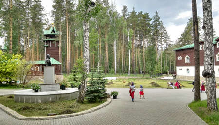 Yekaterinburg, Russia, June 2017. The project is traveling in Russia. The project is traveling in Russia. Monastery of the Holy Royal Passion-Bearers. Stok Fotoğraf - 92004549