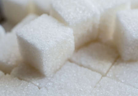 sugar cubes abstract close up
