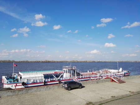 Russia, Nizhny Novgorod - May, 2018: Volga river view
