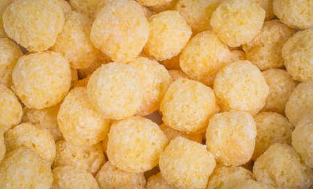 food background: corn balls cornflakes Imagens