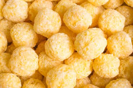 food textures: corn balls