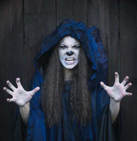 halloween witch portrait 写真素材