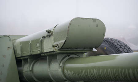 122 mm howitzer d-30, part of old russian cannon artillery