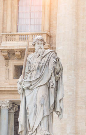 Vatican City, Rome, Italy - February 23, 2019: Statue of the apostle Saint Peter in Vatican, Famous turist landmark.