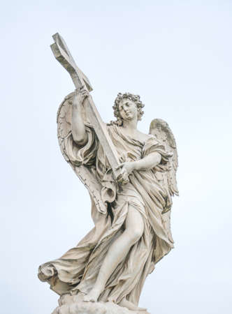 Bernini statue of angel in Rome, famous turist place in Italy. Imagens - 119026731