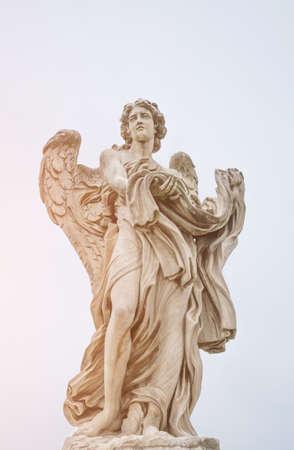 Bernini statue of angel in Rome, famous turist landmark in Italy. Imagens