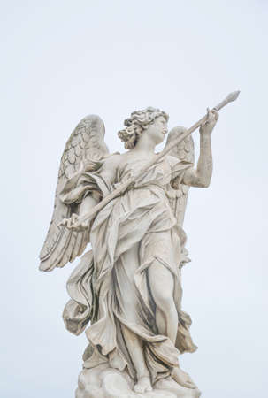Bernini statue of angel in Rome, famous turist place in Italy. Imagens - 119026734
