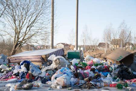 Minsk Belarus - March 6 2019: Garbage dump