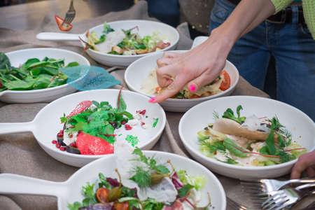 Italian Salad Tasting Reklamní fotografie
