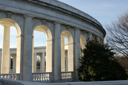 White marble tombstones at Arlington National Cemetary photo