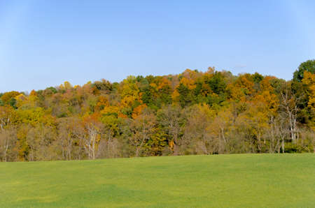 Autumn Vista in rural Virginia with multiple colors photo