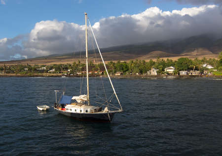 Sailboat off of the coast of Maui