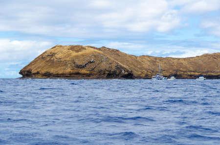 Un lugar favorito de buceo a pocos kilómetros de la costa de Maui Hawaii Foto de archivo - 20153517