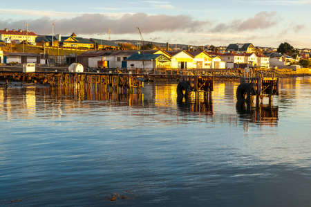 punta arenas: Punta Arenas cityscape,the southernmost city on earth,Chile Stock Photo