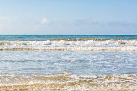 beack: Waves on a sandy beack in Isle of Palms.