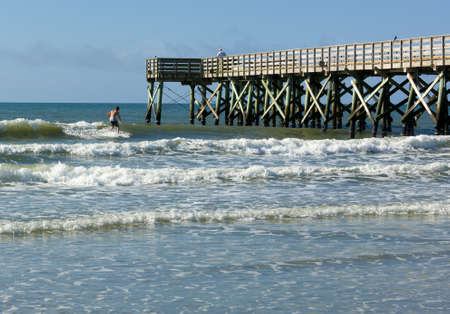 Fishing pier located on the Isle of Palms photo