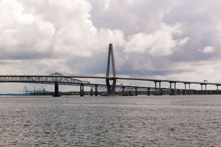Arthur Ravenel Jr Bridge over Cooper River in Charleston photo