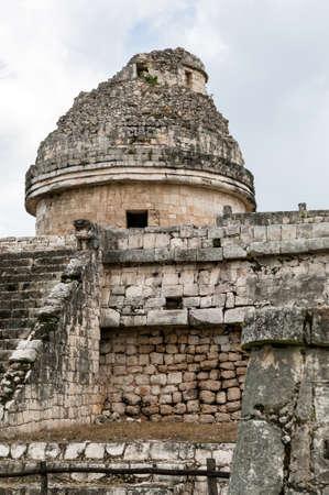 Observatorio maya en Chich?n Itz? - Pen?nsula de Yucat?n, M?xico Foto de archivo - 20305742