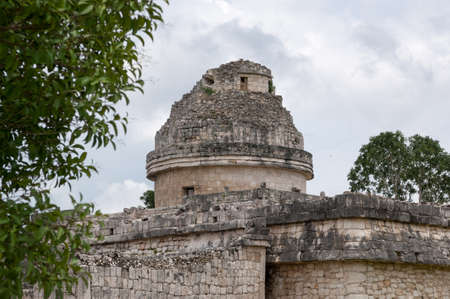 Mayan observatory at Chichen Itza - Yucatan Peninsula, Mexico Stock Photo