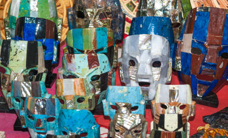 Mayan masks for sale near Chichen Itza