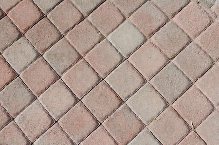 A brick paver pattern. Excellent for use as patio or outdoor flooring or walkways. Stock Photo