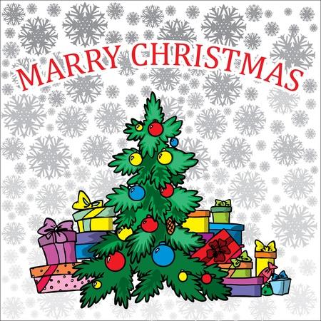 Christmas treeon white background Stock Vector - 11450094