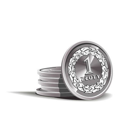 zloty coins illustration, financial theme