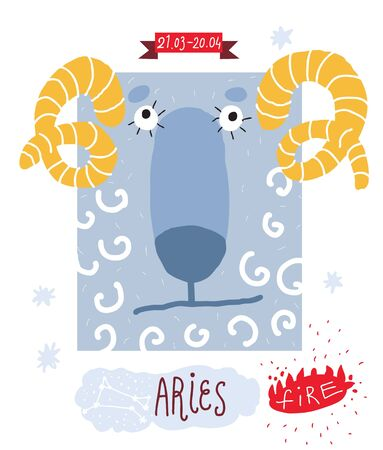 months of the year: Aries drawing