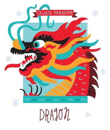 Dragon  horoscope Illustration