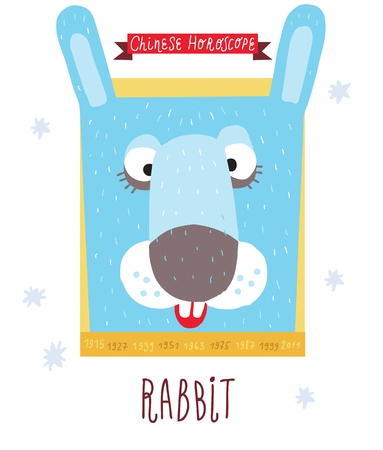rabbit  horoscope  Vector