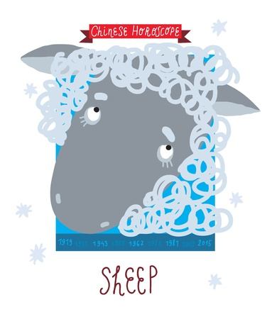 sheep  horoscope  Vector