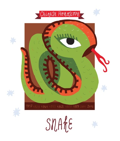 snake  horoscope  Vector