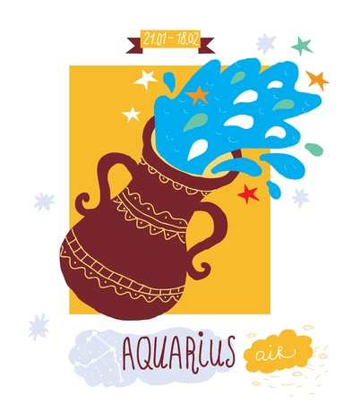 astrologist: Aquarius zodiac sign Illustration