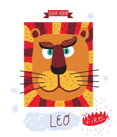astrologist: Leo zodiac sign Illustration