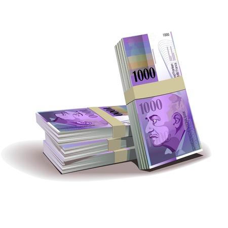 swiss franc: 1000 Swiss Franc vector