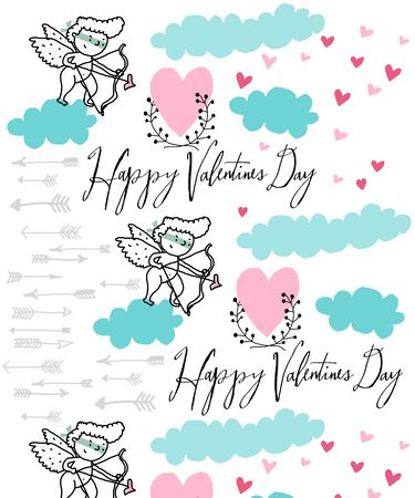 Vector background shooting cupid Stock Vector - 17878275