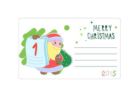 Santa Claus in Christmas card illustration