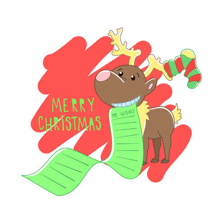 Christmas reindeer illustration