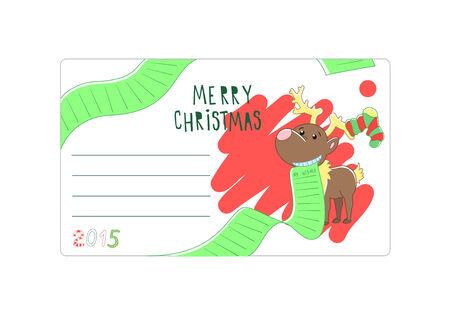 Envelope Christmas   Vector illustration