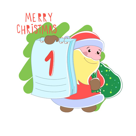 Santa Claus  Christmas Vector illustration
