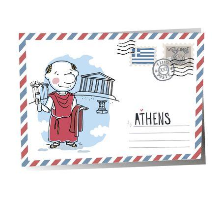 Postcard Athens | Vector