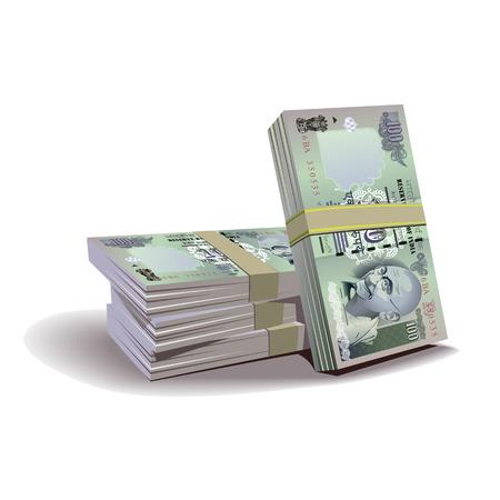 bundle: Indian rupees bundle   Vector