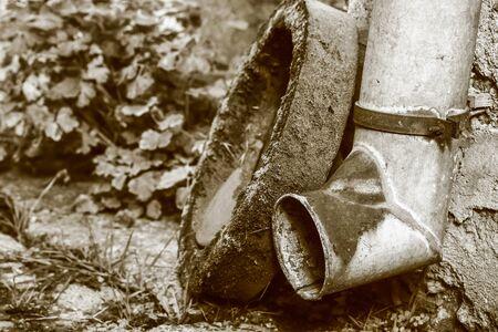 sawdust: garden tools sepia