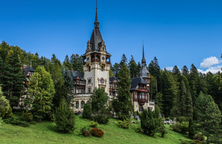 Peles Castle in Sinaia, Romania Editorial